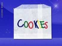 Cookie Bags - 4-7/8 x 4 - Printed Cookies