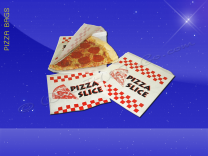 Pizza Slice Bags - 8-3/8 x 9 - Double Opening - Printed Pizza Slice